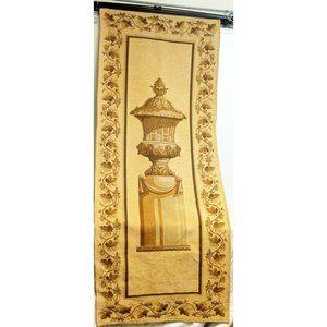 Greek Vase/Urn on Pedestal Tapestry Wall Hanging M